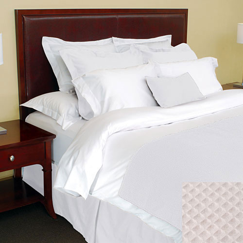 1888 Mills Adorn White Bed Wrap King 78x80 55 Cotton 45
