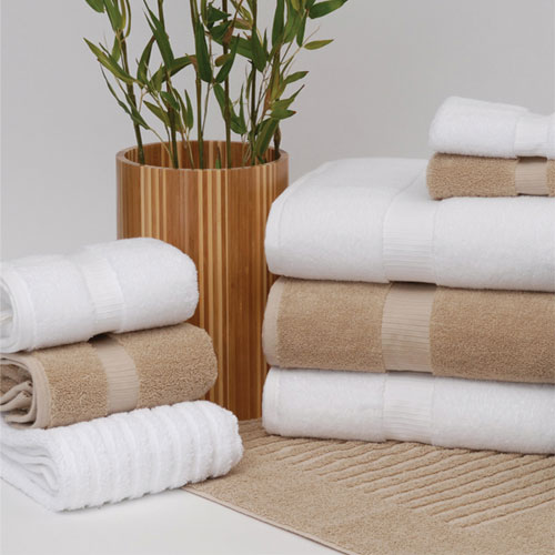 1888 Mills Green Threads Hand Towels 16x30 100 Organic
