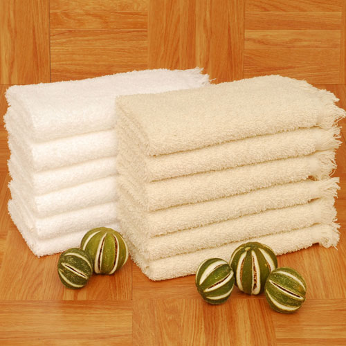 1888 Mills Fringed Terry Fingertip Towels 13x18 100 Cotton White