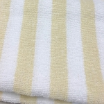 1888 Mills Fibertone Cabana Stripe Pool Towels 30x70 86% Cotton 14% Polyester Beige 15Lb/Dz 24 Per Case Price Per Each