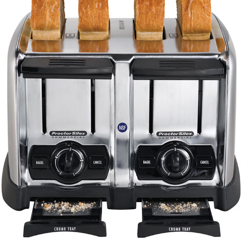 Hamilton Beach Extra Wide Slot 4 Slice Toaster: Proctor-Silex Commercial 24850 4 Slice Extra-Wide Slot