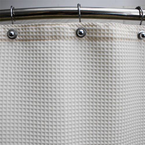 Kartri Waffle Supreme Polyester Shower Curtain W Metal Grommets 70x72 White Or Beige 6 Per Case Price Each