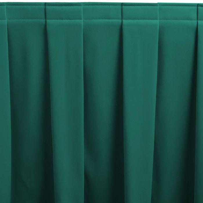 Snap drape melrose box pleat table skirting for Table skirting