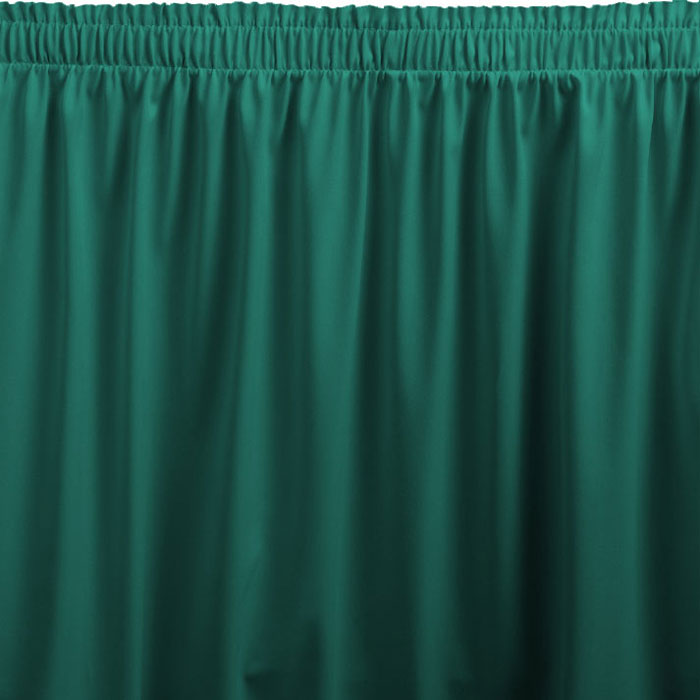 Snap drape wyndham shirred pleat table skirting for Table skirting