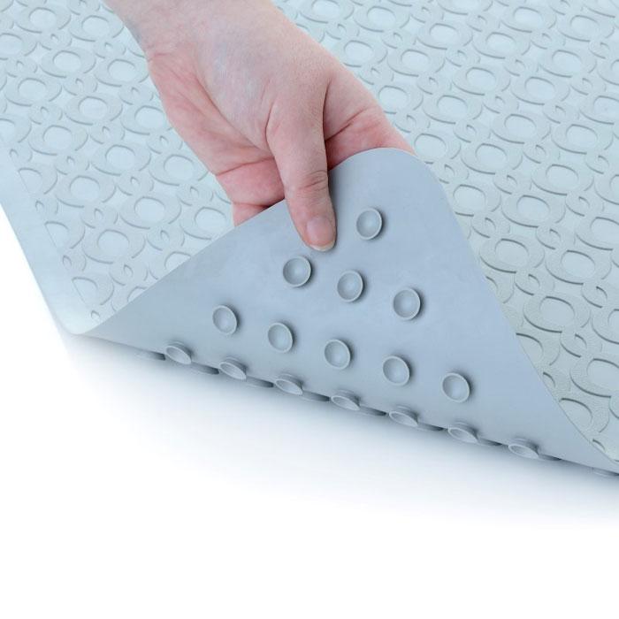Slip X Large Safety Rubber Bath Mat W/ Microban 15x27 Gray 4 Per Case Price  Per Case