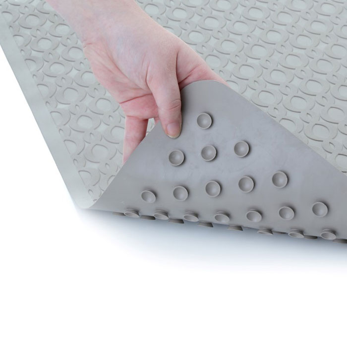 Slip X Large Safety Rubber Bath Mat W Microban 15x27 Tan