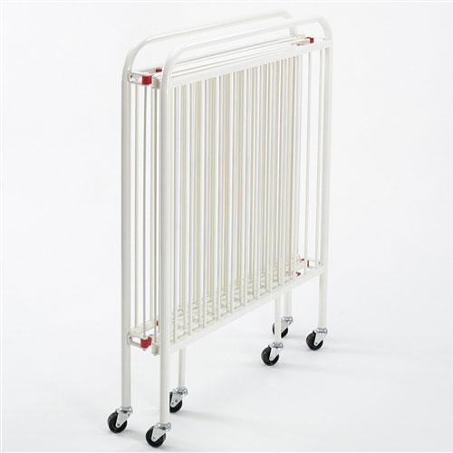 """Wehsco Porta Size Steel Folding Crib w 3"""" Waterproof Mattress"""