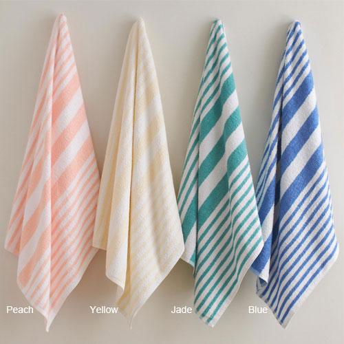 Martex Tropical Stripe Pool Towels 30x70 100 Ring Spun