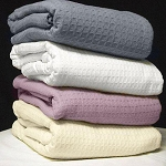 AHS Collection Santa Clara Thermal Blankets 3.7 Lbs 100% Cotton 66x90 4 Per Case Price Per Each