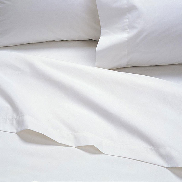 AHS Collection T 180 Elite Fitted Sheets Twin 39x75x12 55% Cotton 45%  Polyester White 2 Dz Per Case Price Per Dz