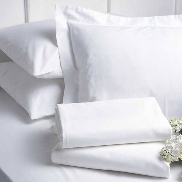 AHS Collection T 250 Fitted Sheets Queen 60x80x15 60% Cotton 40% Polyester  White 2 Dz Per Case Price Per Dz