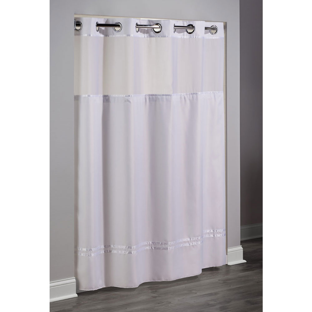 Hookless Escape Polyester Shower Curtain w It s A Snap