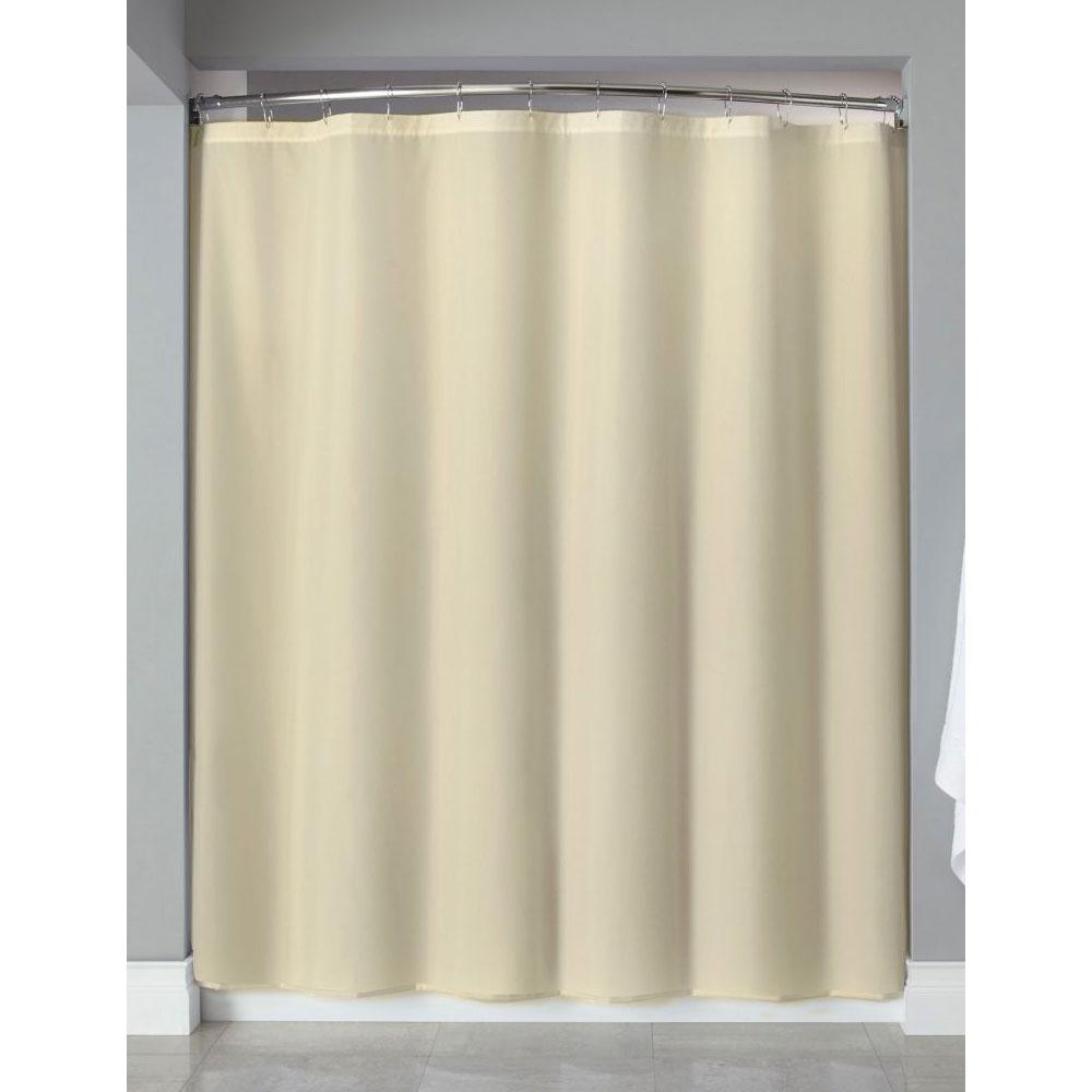 Hooked Nylon Shower Curtain W Buttonholes 72x72 Beige 12 Per Case Price Per Each