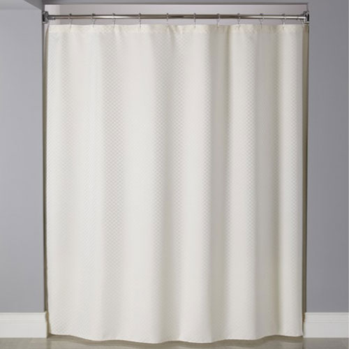 Home Arcs Angles HookedTM Fabric Shower Curtains Polyester Mini CheckBox Curtain W Buttonholes 72x72 Beige