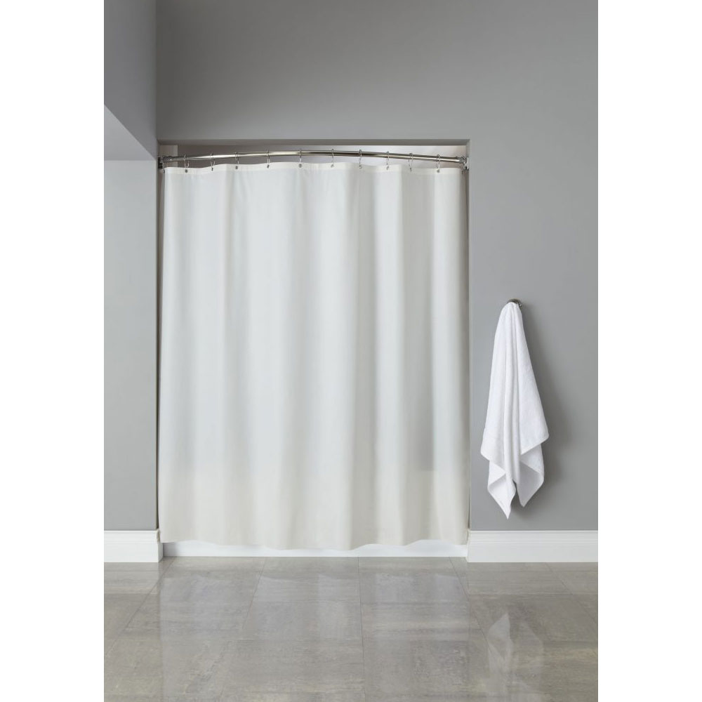 Home Arcs Angles HookedTM Vinyl Shower Curtains 10 Gauge W Grommets 72x72 White 12 Per Case Price