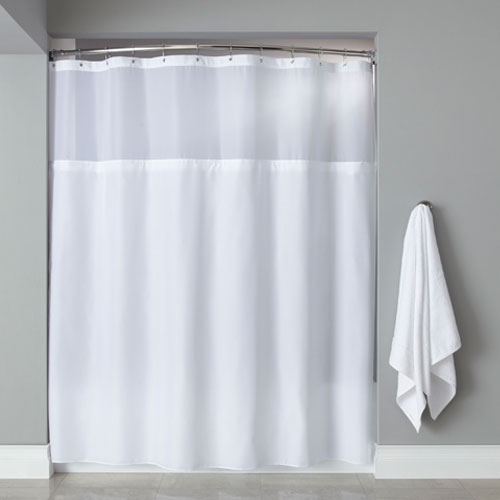 Hooked™ Poly Premium Shower Curtain w/ Grommets Sheer Window & It ...