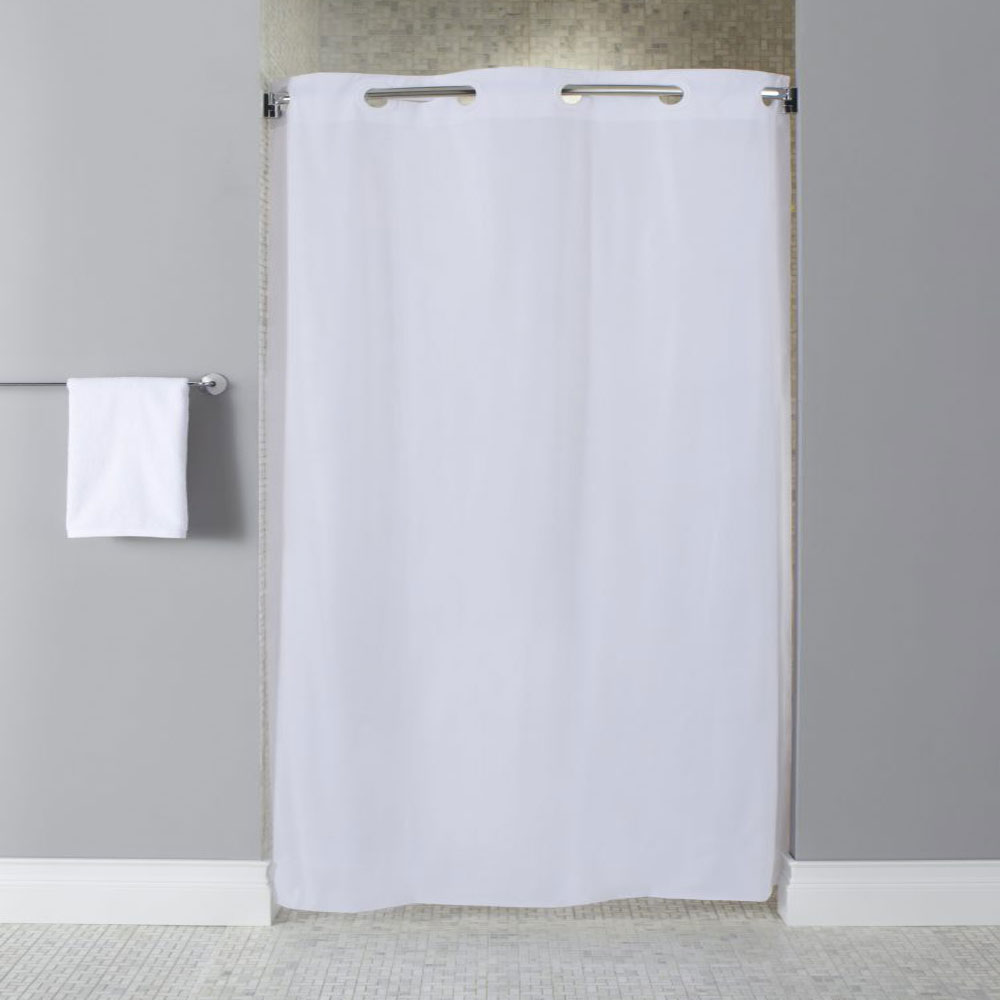 hookless 10 gauge vinyl shower curtain stall size 42x74 white 12 per case price per each