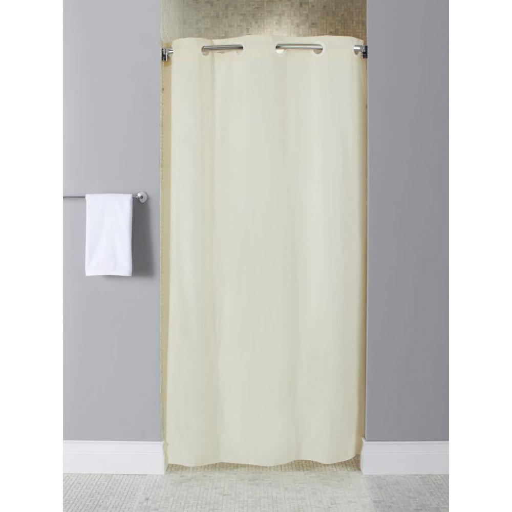 Hookless 10 Gauge Vinyl Shower Curtain Stall Size 42x74 Beige 12 Per Case Pr