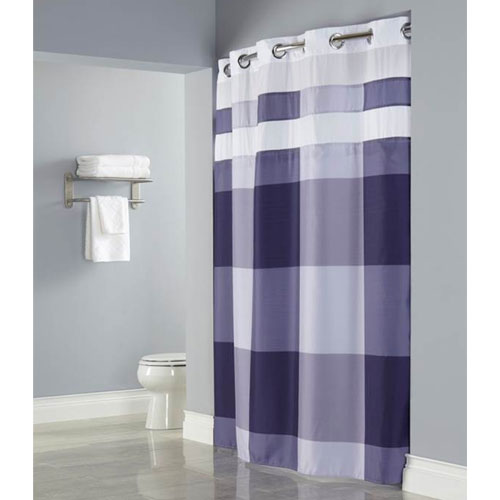 Hookless Devan Polyester Shower Curtain W It S A Snap Replaceable Liner 7