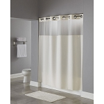 Hookless® Illusion Polyester Shower Curtain w/ It's A Snap!™ Replaceable Liner 71x77 Beige 12 Per Case Price Per Each