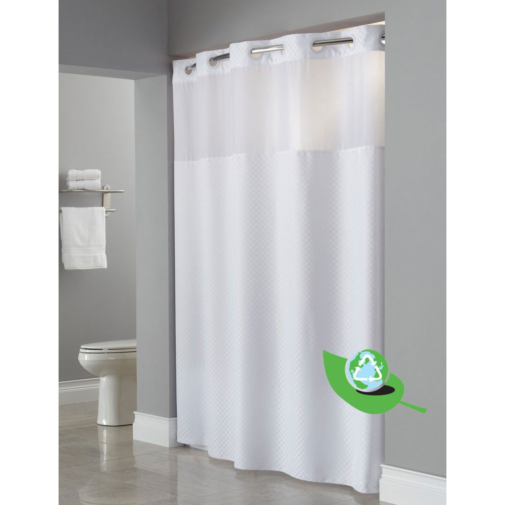 hookless daytona one planet repet shower curtains 71x77