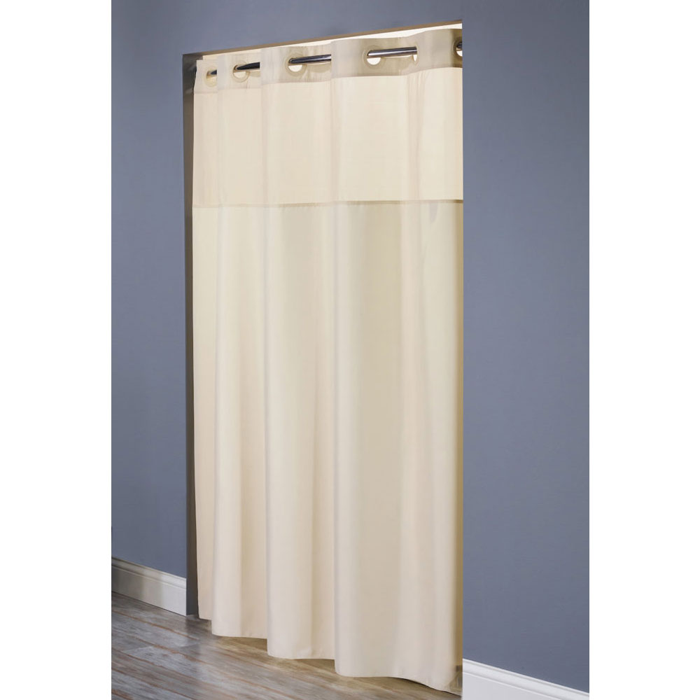 Hookless 174 Mystery Polyester Shower Curtain 71x77 Beige 12