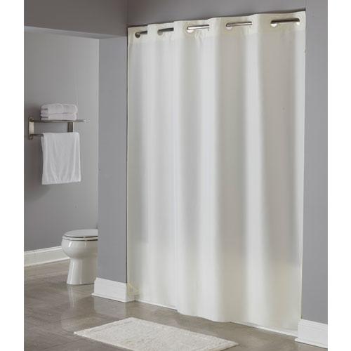 Hookless® Nylon Shower Curtain 71x74 Beige 12 Per Case Price Per Each