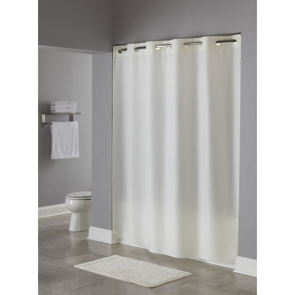 HooklessR Nylon Shower Curtain 71x74 White 12 Per Case
