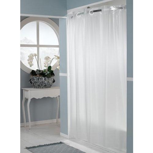 Home Arcs Angles HooklessR Vinyl Shower Curtains 5 Gauge Peva One PlanetTM PEVA 71x74 Frost 12 Per