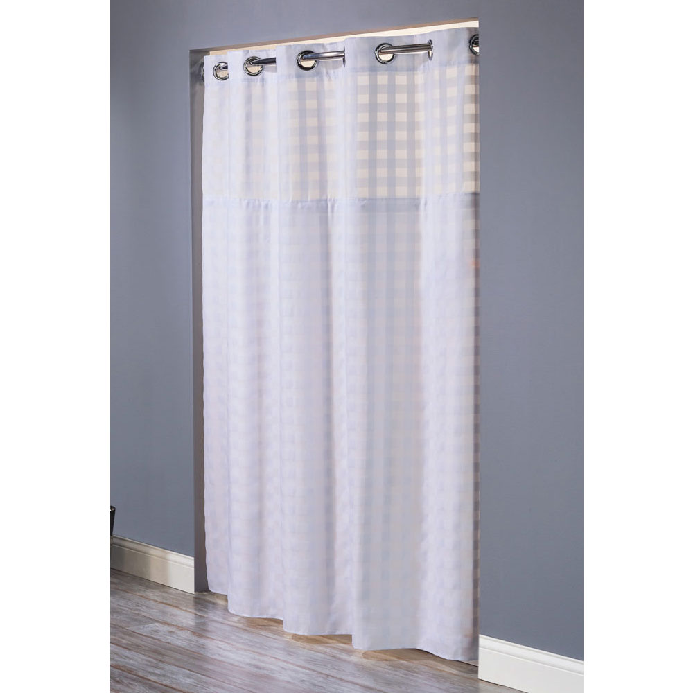 Hookless Shimmy Square Polyester Shower Curtain w It's A