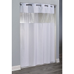 Hookless® The Major Polyester Shower Curtain 71x74 White 12 Per Case Price Per Each