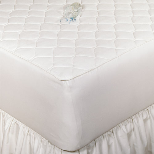Bargoose 3 Ply Quilted Fitted Waterproof Mattress Pad W