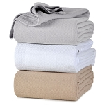 Berkshire AllSoft Cotton Blanket 280 GSM Twin 70x90 White, Natural or Grey 8 Per Case Price Per Each