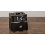 Brandstand CubieBlue Bluetooth Speaker Alarm Clock w/ 2 USB Ports & 2 Power Outlets Black 12 Per Case Price Per Each