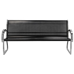 Commercial Zone® 6 Ft. Skyline Black/Stainless Steel Bench