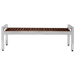 Commercial Zone® 5 Ft. Skyline Espresso Wood/Stainless Steel Bench