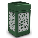 Commercial Zone® Precision Series 42-Gallon Stainless Steel Intermingle Paneled Waste Container Green