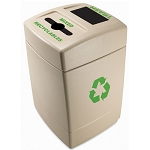 Commercial Zone® Green Zone Series 55-Gallon Mixed Recyclables/Trash Recycling Center Dark Pearl w/ Green Label