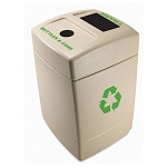 Commercial Zone® Green Zone Series 55-Gallon Bottles & Cans/Trash Recycling Center Dark Pearl w/ Green Label