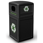 Commercial Zone® Green Zone Series 42-Gallon Recycling Containers w/ Dome Lid Black