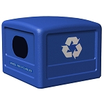 Commercial Zone® 42-Gallon Recycling Dome Lid w/ Decals Blue