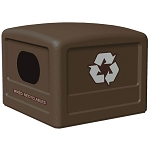 Commercial Zone® 42-Gallon Recycling Dome Lid w/ Decals Brown