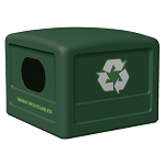 Commercial Zone® 42-Gallon Recycling Dome Lid w/ Decals Forest Green