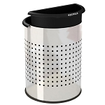 Commercial Zone® Precision Series 3.2-Gallon InnRoom Recycler Decorative Trash & Recycling Container Stainless Steel