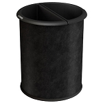 Commercial Zone® Precision Series 3.2-Gallon InnRoom Recycler Vinyl Wrap Trash & Recycling Container Black