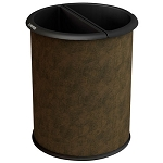 Commercial Zone® Precision Series 3.2-Gallon InnRoom Recycler Vinyl Wrap Trash & Recycling Container Brown