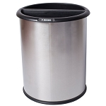 Commercial Zone® Precision Series 3.2-Gallon InnRoom Recycler Smooth Trash & Recycling Container Stainless Steel