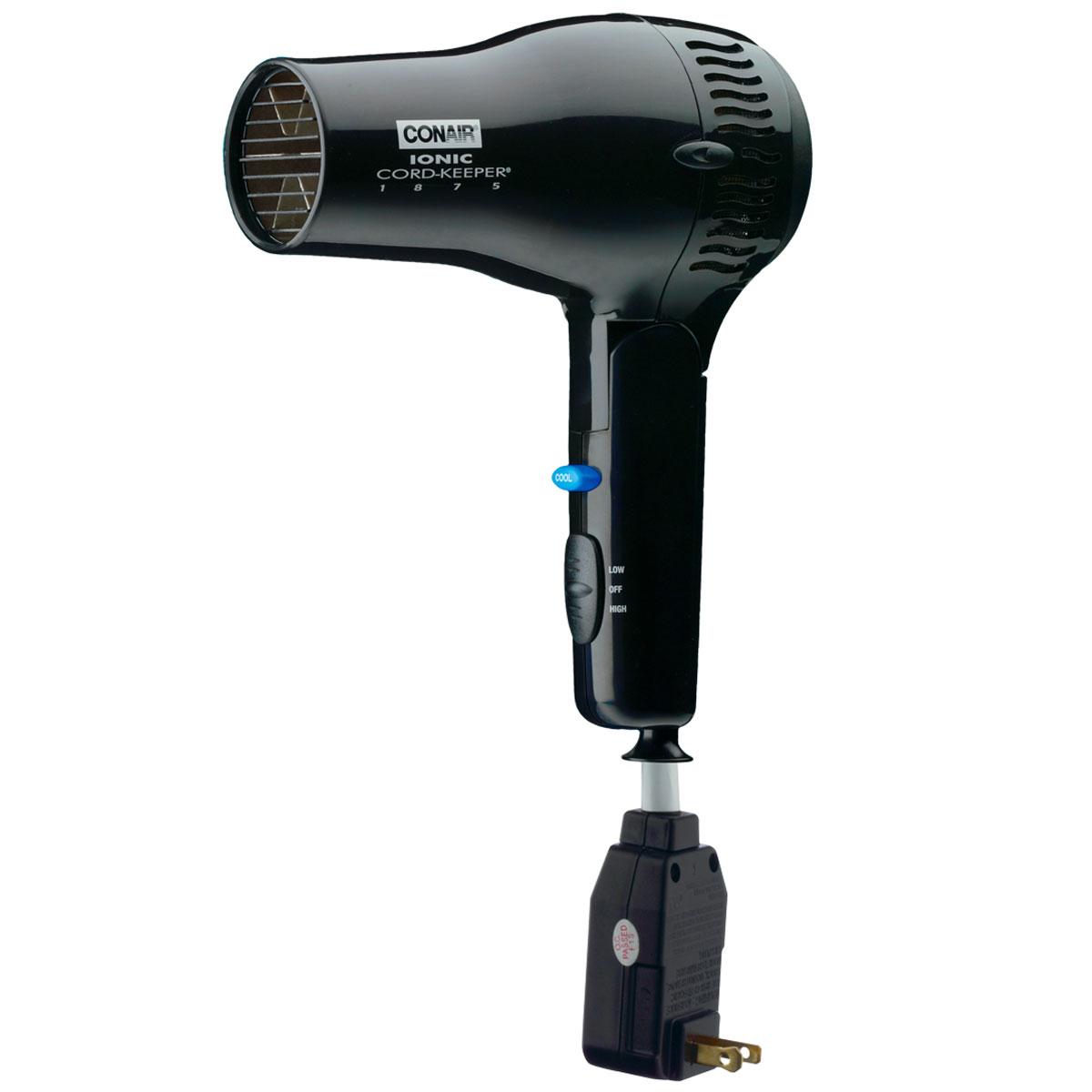 Conair 1875 Dryer ~ Conair biw watt ionic cord keeper dryer hair