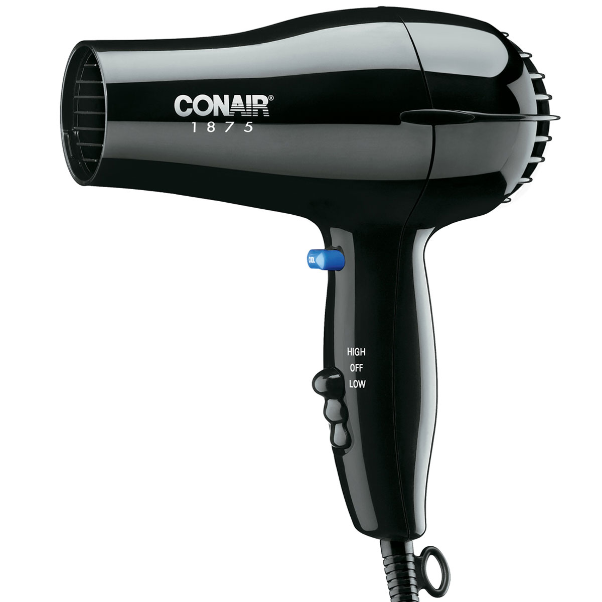 Conair 1875 Dryer ~ Conair bw watt compact hair dryer black per