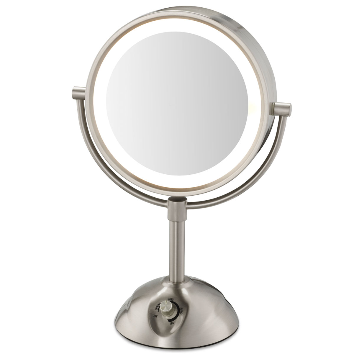 Conair be103wh 85 lighted vanity mirror 1x 5x magnification conair be103wh 85 lighted vanity mirror 1x 5x magnification satin nickel 4 per case price per each mozeypictures Gallery